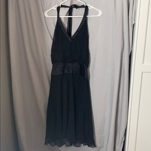 Black halter neck cocktail dress size 8